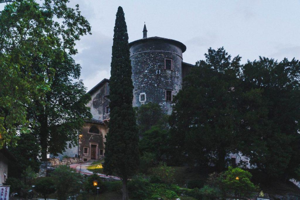 Toblino Castle at blue hour