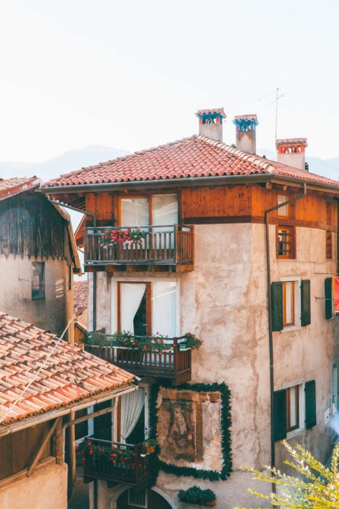 A tall house in Baitoni, Italy