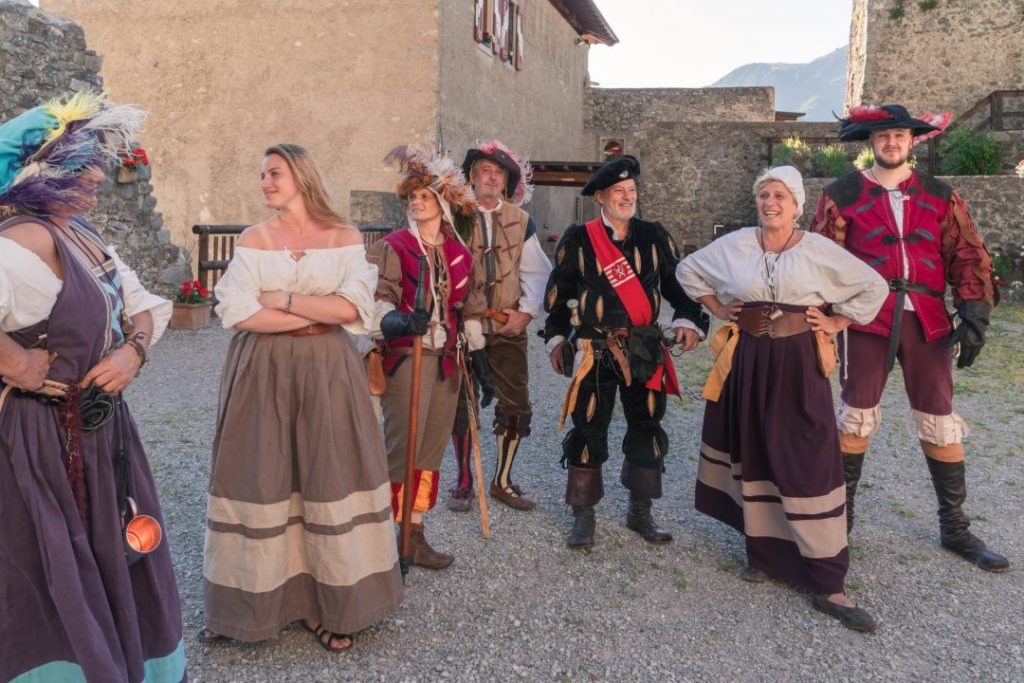 Reenactors at the Castel San Giovanni