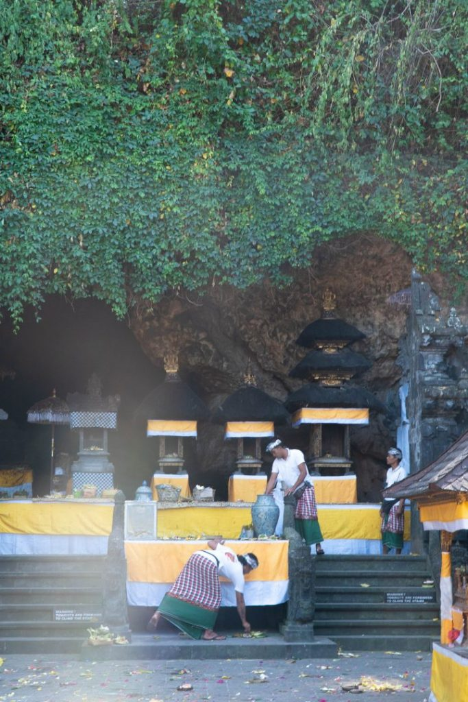 the inside of goa lawah, one of the most interesting bali temples