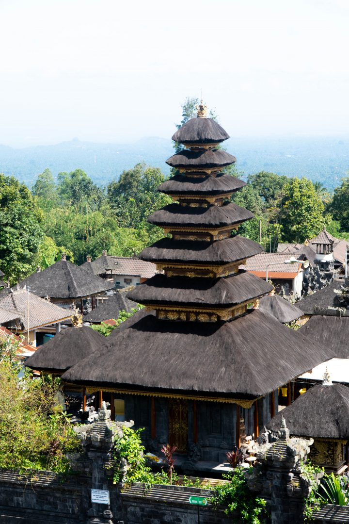 the tiered roof of besakih temple