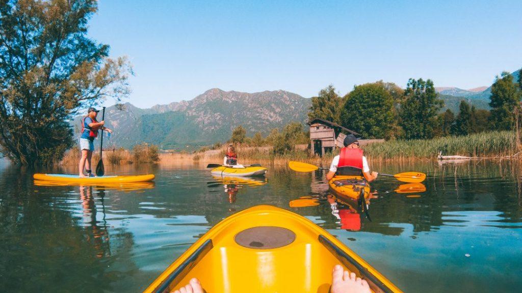 Kayaking on Lake Idro in Valle del Chiese