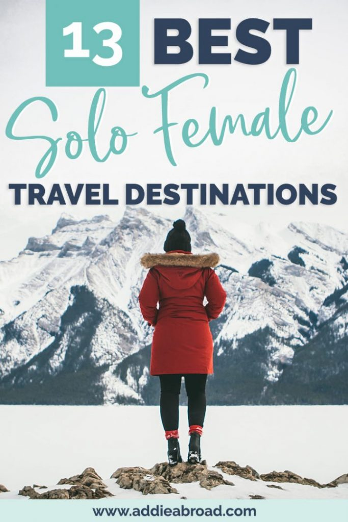 Looking for the best solo female travel destinations for 2020? Look no further! These 13 places around the world are perfect for first time solo female travelers and girls who are looking for adventure. From Amsterdam to Bali to Mexico, you can't miss these amazing solo female travel destinations! #travel #solofemaletravel