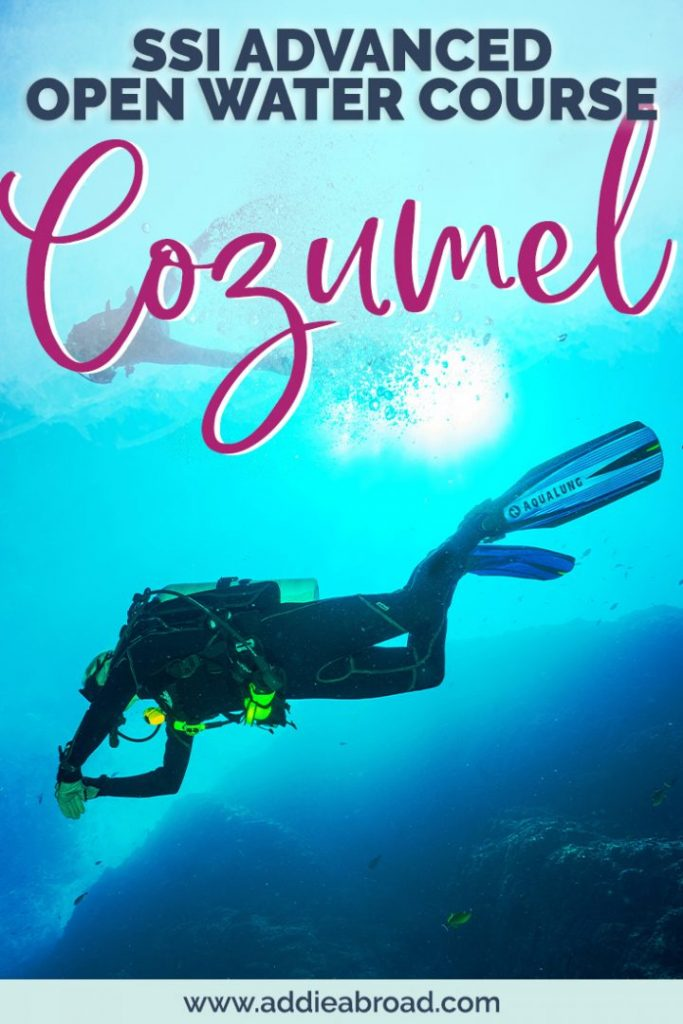 Ready to move beyond beginner status and get your advanced open water certification? Doing your SSI advanced open water course with ScubaTony and scuba diving in Cozumel, Mexico is the best way to go! Click through to find out more and read my full review of the course. #scubadive #scubadiving #travel #mexico #girlsthatscuba