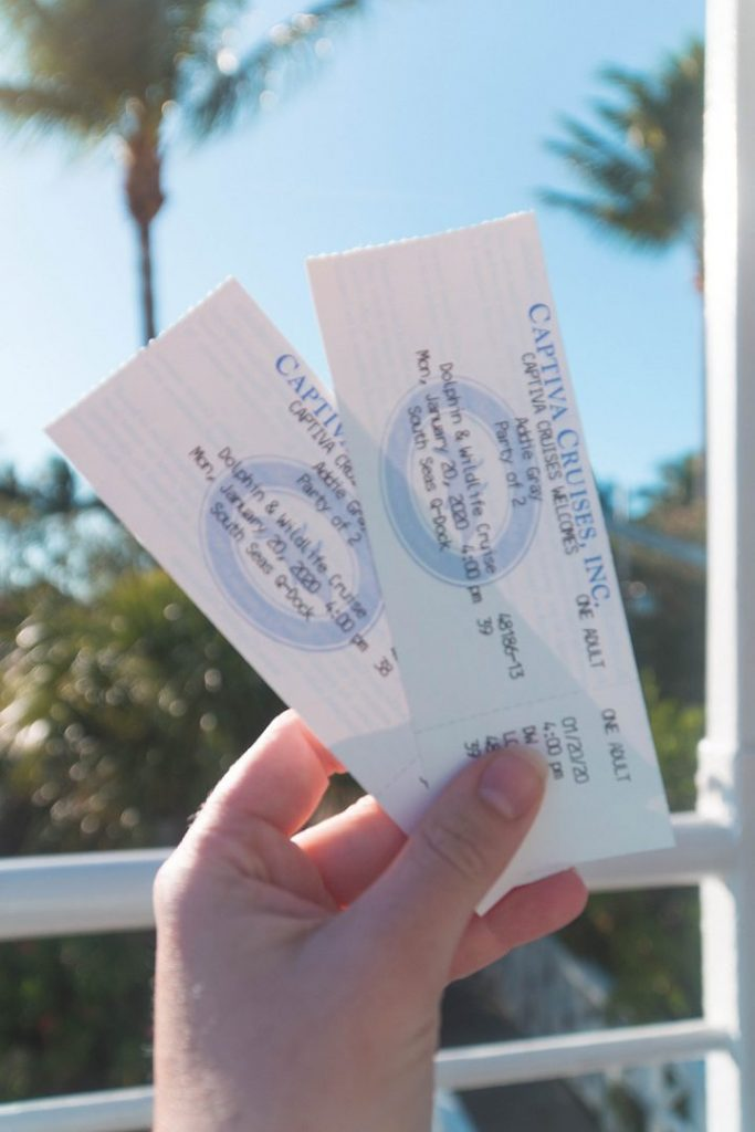 two tickets for captiva cruises