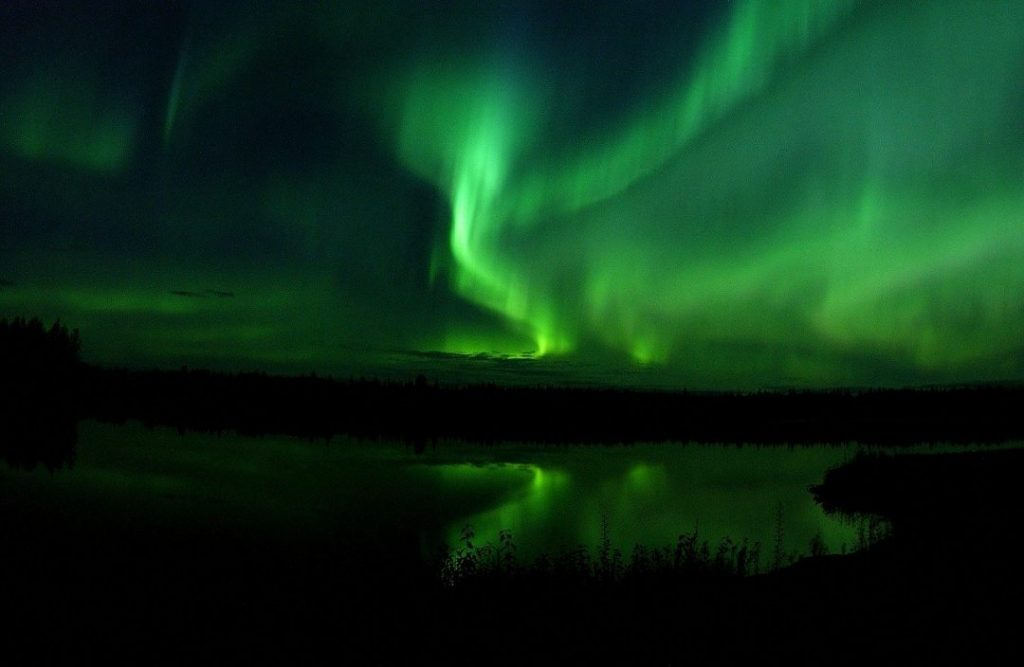 the northern lights in Fairbanks, Alaska, one of the best spring break destinations in the us