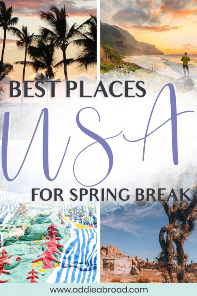 Are you looking for some great spring break travel ideas? These 21 places are the best spring break destinations in the US! So tick some things off your bucket list by visiting Hawaii, California, and other amazing spots in the United States! #springbreak #travel