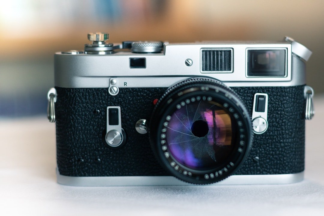 a camera with a small aperture opening