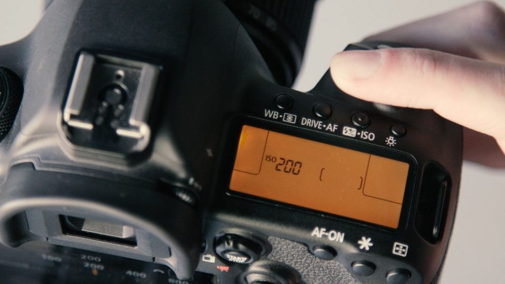 a camera with iso setting