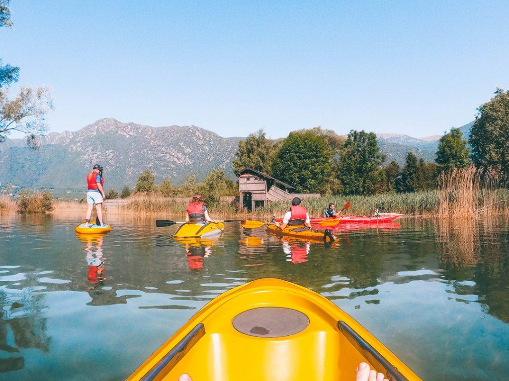 kakaying on lake idro - one place to visit in trentino