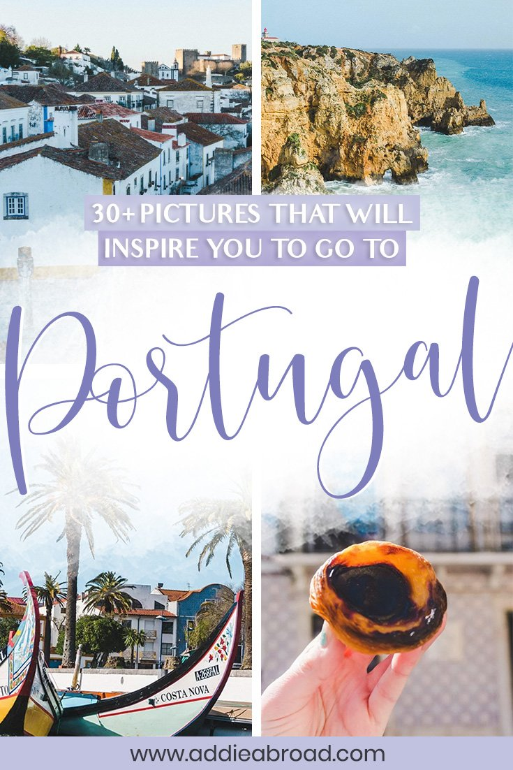 Dreaming of traveling to Portugal? These 22 pictures of Portugal will have you booking a plane ticket ASAP. Travel to Lisbon, Porto, Obidos, Aveiro, and Lagos through travel photography! #travel