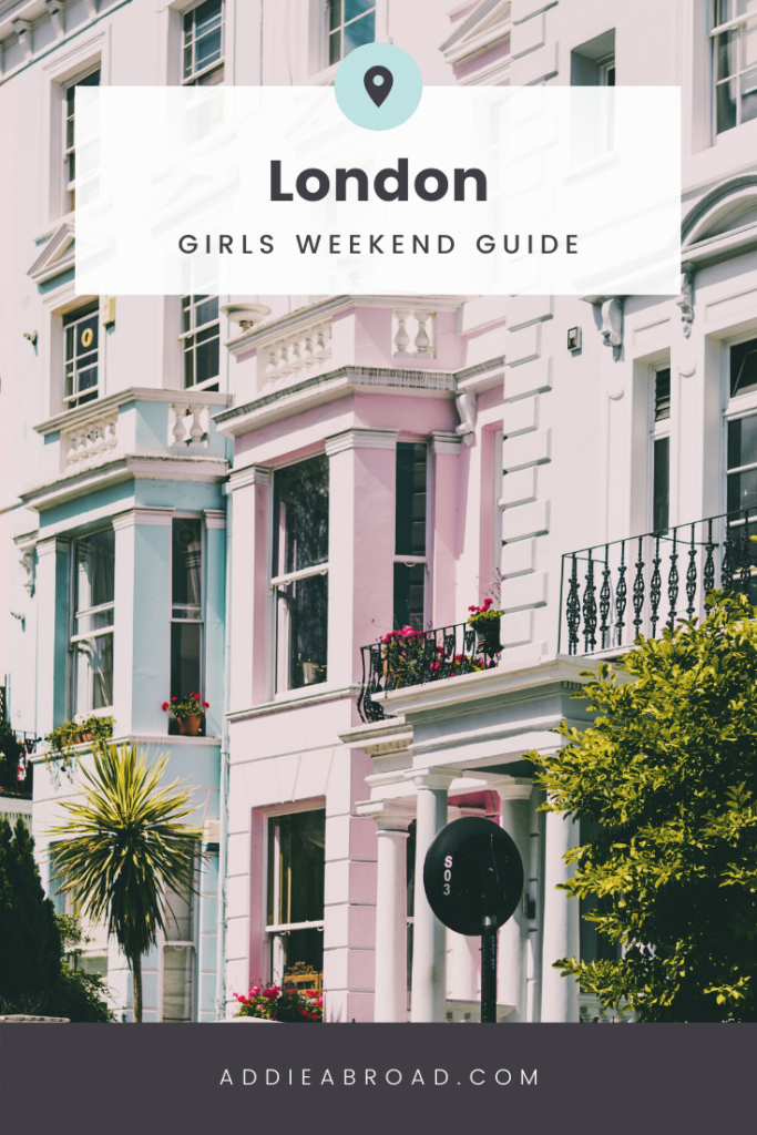 Looking for the best things to do in London on a girl's trip! Fill up your girls weekend in London bucketlist by following this post! Have afternoon tea in Kensington Palace, find the trendiest places to stay and the best photo spots, and shop till you drop!