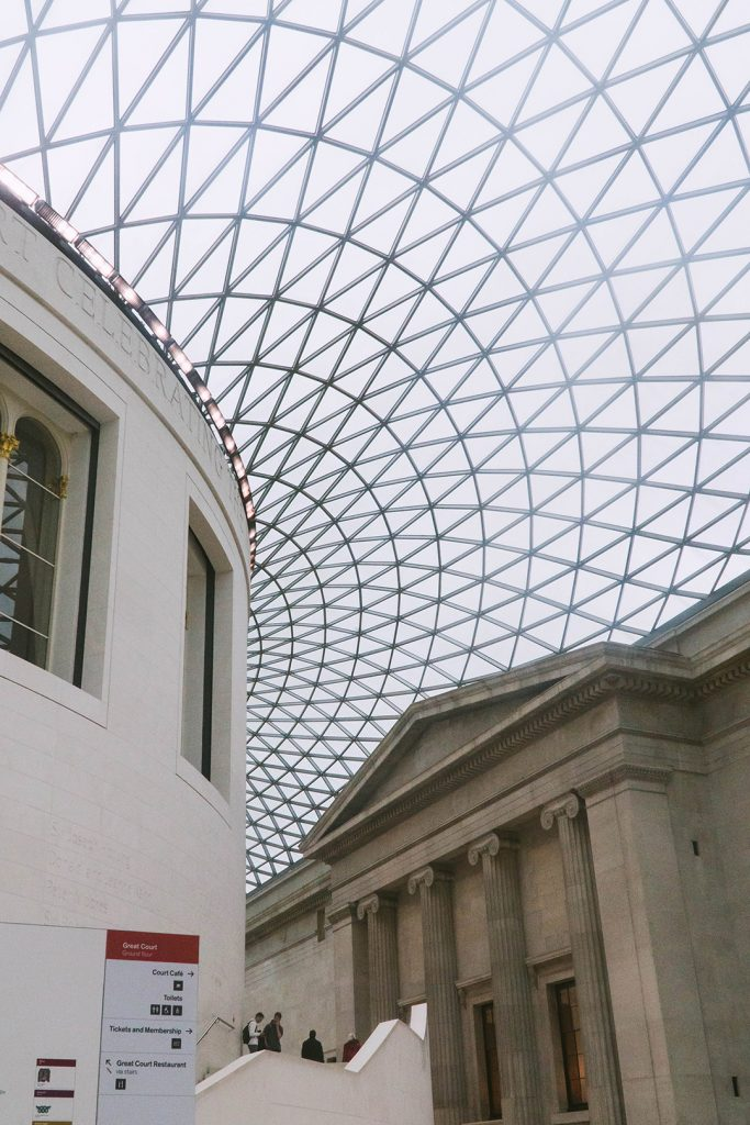 the main atrium of the british museum on a london girls trip