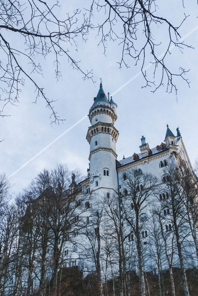 neuschwanstein castle up close from below
