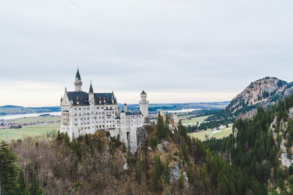 neuschwanstein castle as seen from the marienbrucke