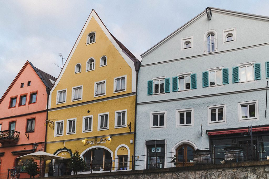 colorful houses in fussen