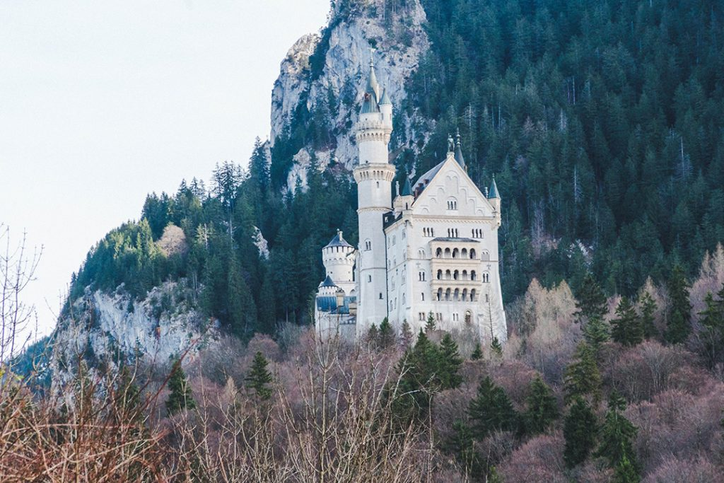 neushcwanstein castle as seen from the ticket centre
