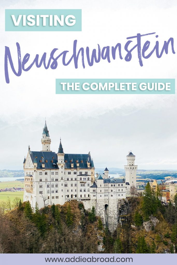 Planning on visiting Neuschwanstein Castle on your trip to Germany? Learn all about Schloss Neuschwanstein, how to get tickets, the best photo spots, how to visit on a day trip from Munich, and more in this complete guide! #germany #travel