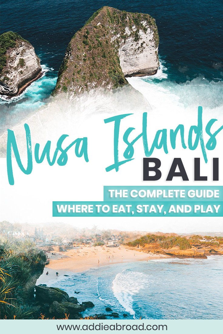 Planning to visit the Nusa Islands on your trip to Bali? Look no further than this complete Nusa Islands guide to where to eat, where to stay, and where to play on the islands of Nusa Lembongan, Nusa Ceningan, and Nusa Penida–including a 4-day itinerary! Visit Diamond Beach, Atuh Beach, Kelingking Beach, and more!