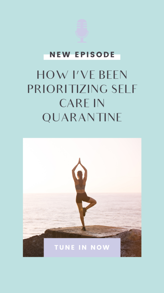 In this crazy season, it's more important than ever to prioritize your self care routine. If you're looking for self care at home ideas, then you'll definitely want to tune into this episode! Learn about how you can practice self care through the Miracle Morning, mediation, journaling, yoga, bullet journaling, skincare, and more. #selfcare