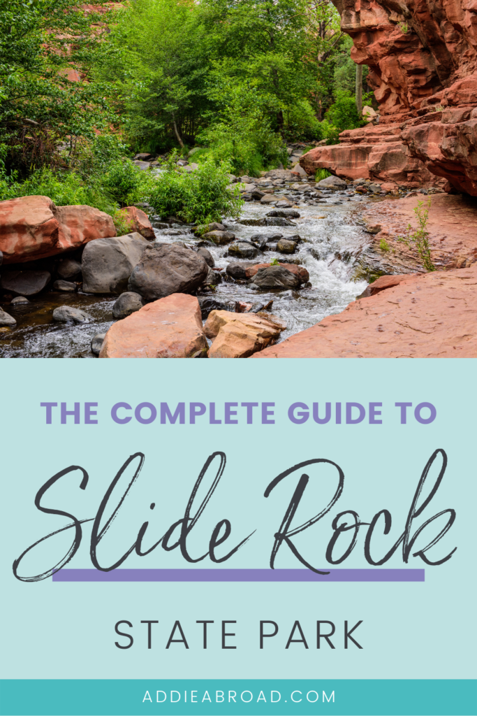 Looking for some of the best things to do in Sedona, Arizona? Slide Rock State Park is a must-visit for hiking and natural water slides! Click through for the complete guide.