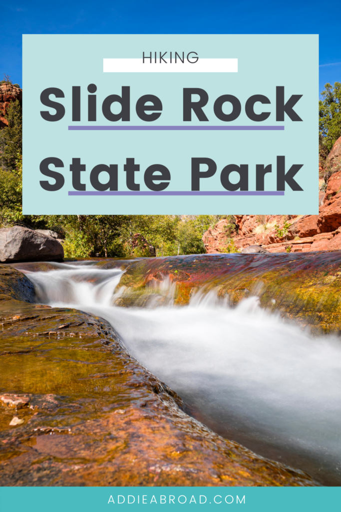 Slide Rock State Park is by far one of the best things to do in Sedona, Arizona! Whether you're on an Arizona road trip or staying in Sedona, it's a must-visit for hiking and natural water slides! Click through to start planning your trip!